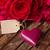 romantikus · rózsák · papír · szívek · csendélet · rózsaszín - stock fotó © neirfy
