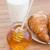 rural · desayuno · croissant · rústico · frescos · taza - foto stock © neirfy