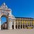 rua augusta arch in lisbon portugal stock photo © neirfy
