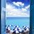 szoba · nyitott · ajtó · város · modern · képzelet · álmok - stock fotó © neirfy