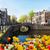 casas · Amsterdam · Países · Bajos · canal · luces · reflexiones - foto stock © neirfy