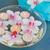 pembe · krizantem · çiçekler · mumlar · çanak · su - stok fotoğraf © neirfy
