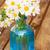 daisy · bloemen · Blauw · glas · pot · voorjaar - stockfoto © neirfy