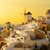 pueblo · puesta · de · sol · santorini · isla · Grecia · casa - foto stock © neirfy