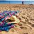 chapéu · de · palha · conchas · areia · praia · azul · água - foto stock © neirfy
