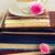velho · livros · flores · vintage · azul - foto stock © neirfy