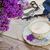 beker · thee · bloemen · oude · houten - stockfoto © neirfy