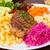 бифштекс · овощей · фри · Салат · томатный · обед - Сток-фото © neirfy