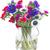 buket · mavi · kırmızı · yalıtılmış · beyaz · çiçekler - stok fotoğraf © neirfy