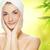 美しい · 若い女性 · 適用 · オーガニック · 化粧品 · 皮膚 - ストックフォト © nejron