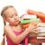 little schoolgirl packing her rucksack stock photo © nejron