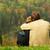 casal · sessão · prado · mulher · homem · retrato - foto stock © nejron