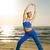 красивой · фитнес · осуществлять · пляж · закат - Сток-фото © nejron