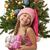 feliz · ayudante · rosa · sombrero - foto stock © nejron