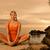 bella · yoga · esercizio · esterna · cielo - foto d'archivio © nejron