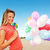happy girl with balloons and sweet candy stock photo © nejron