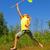 jong · meisje · springen · weide · jonge · tienermeisje · zomer - stockfoto © nejron