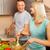 aantrekkelijk · gelukkig · man · vegetarisch · salade - stockfoto © nejron