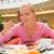 joli · jeunes · manger · sushis · restaurant · pause · déjeuner - photo stock © nejron