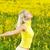 bonitinho · feminino · amarelo · floral · campo - foto stock © nejron