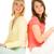 deux · adolescentes · été · amusement · vert · jambes - photo stock © nejron