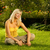 beautiful young woman relaxing outdoors stock photo © nejron