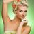gyönyörű · fiatal · nő · virágok · fej · boldog · fényes - stock fotó © nejron