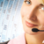 call · center · vrouw · hoofdtelefoon · abstract · gelukkig · werk - stockfoto © nejron