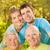 дедушка · и · бабушка · дочь · внучка · портрет · счастливым - Сток-фото © nejron