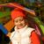 kicsi · lány · esernyő · boldog · visel · esőkabát - stock fotó © nejron
