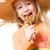 девушки · леденец · красивой · девочку · розовый · продовольствие - Сток-фото © nejron