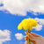 hand with dandelions over blue cloudy sky stock photo © nejron