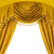 luxury curtains with free space in the middle stock photo © nejron