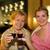 iki · güzel · kadın · içme · şarap - stok fotoğraf © nejron