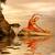 yoga · vrouw · ochtend · strand · meditatie · wellness - stockfoto © nejron