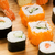 different types of sushi on a bamboo plate stock photo © nejron