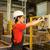 工場労働者 · マシン · 垂直 · 画像 · 白人 · 青 - ストックフォト © nejron