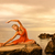 hermosa · yoga · ejercicio · aire · libre · cielo - foto stock © nejron