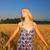 十代の少女 · 麦畑 · 黄色 · ファブリック · 自然 - ストックフォト © nejron
