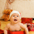 Adorable toddler in Christmas hat stock photo © Nejron
