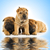 group of adorable sharpei puppies near the water stock photo © nejron