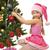 fogad · ajándék · mikulás · portré · aranyos · kislány - stock fotó © nejron