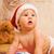 imádnivaló · kisgyerek · karácsony · kalap · lány · baba - stock fotó © Nejron