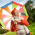 beautiful little girl with colorful umbrella stock photo © nejron