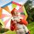 美しい · 女の子 · 傘 · 森林 · 自然 · 子 - ストックフォト © nejron