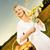 güzel · bir · kadın · ayçiçeği · gün · batımı · sanat · portre · kadın - stok fotoğraf © nejron