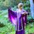 loiro · menina · magia · espada · primavera · floresta - foto stock © nejron