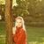 młoda · kobieta · wyschnięcia · twarz · charakter · tle - zdjęcia stock © nejron