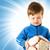 weinig · voetballer · jongen · klein · bal - stockfoto © nejron