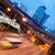 rápido · movimiento · autobús · noche · nubes · carretera - foto stock © nejron